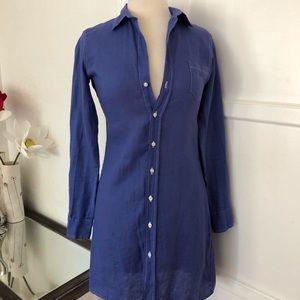 Frank & Eileen Linen Shirt Dress - Gorgeous Color